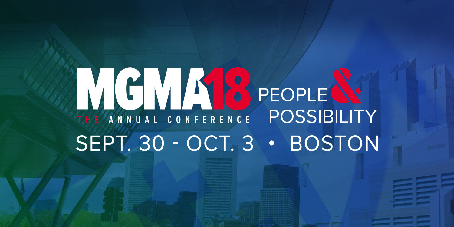 Medical Group Management Association (MGMA) 2018