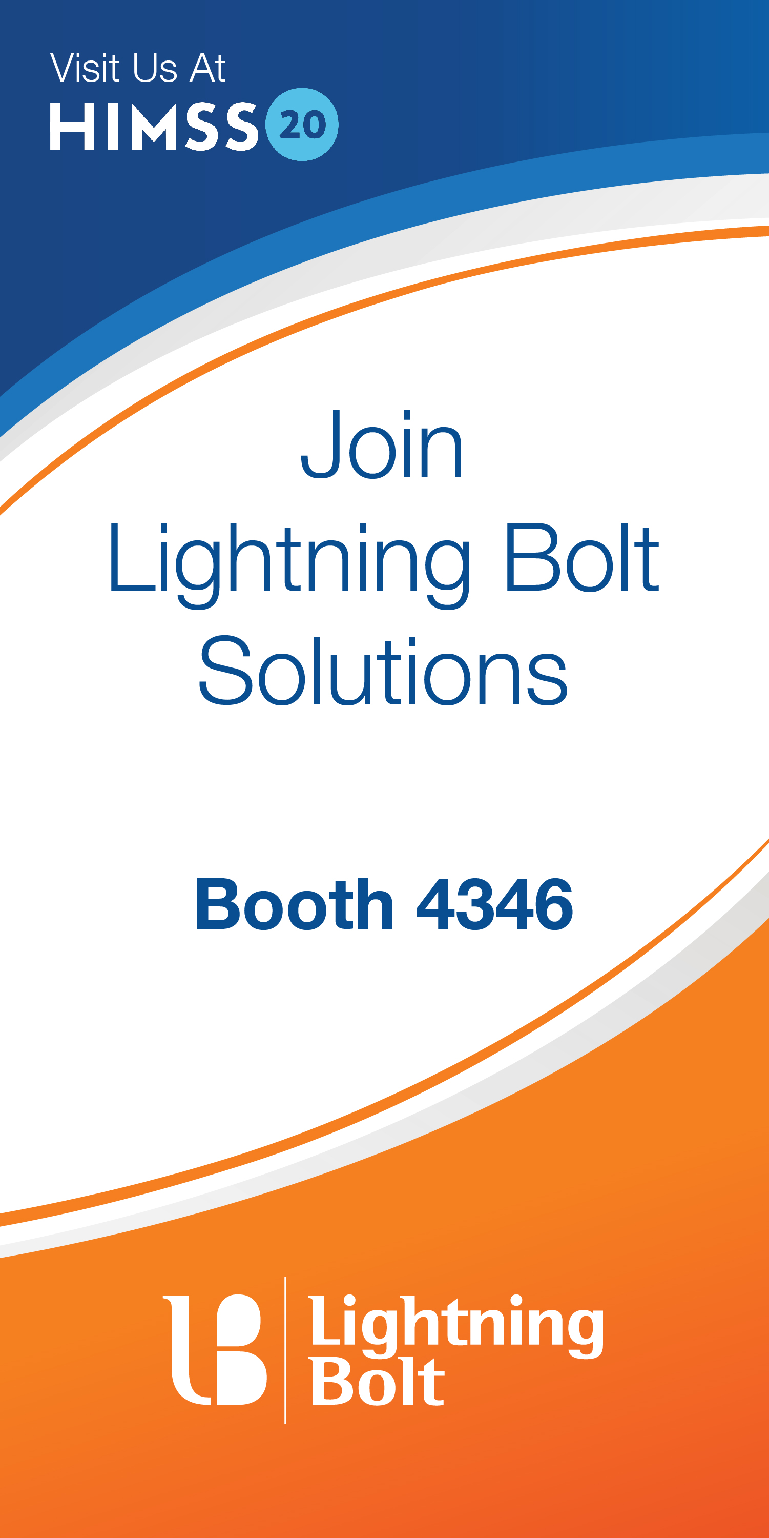 Lightning Bolt will be exhibiting at booth 4346 at HIMSS20.