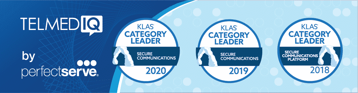 PerfectServe's Telmediq Solution Wins KLAS Category Leader Award for Secure Communications